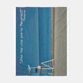 Inspirational Beach Scene Fleece Blanket