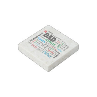 Inspirational Best Father Dad Word Cloud Stone Magnet