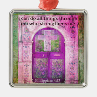 Inspirational Bible Verse About Strength & Faith Christmas Tree Ornaments