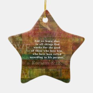 Inspirational Bible Verse Ceramic Star Decoration