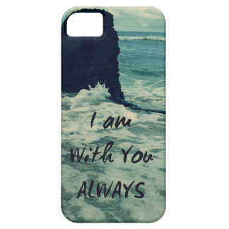 Inspirational Bible Verse I am With You Always iPhone 5 Cover