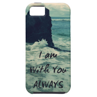 Inspirational Bible Verse I am With You Always Tough iPhone 5 Case
