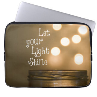 Inspirational Bible Verse Let your light shine Laptop Sleeve
