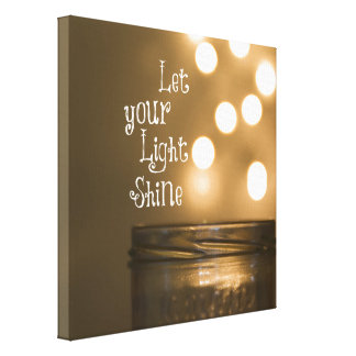 Inspirational Bible Verse Let your light shine Stretched Canvas Print
