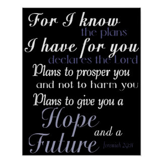 Inspirational Bible Verse Poster Print Wall Decor