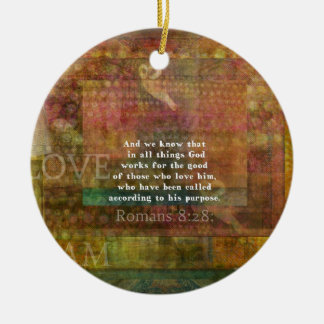 Inspirational Bible Verse Round Ceramic Decoration