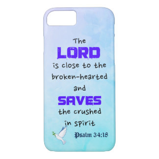 Inspirational Biblical Quote Psalm 34:18 iPhone 8/7 Case