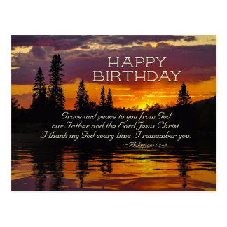 Inspirational Birthday, Grace and Peace to You Postcard