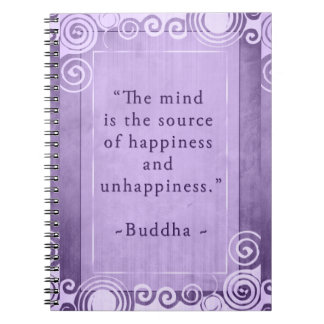 Inspirational Buddha Happiness Quote Notebooks