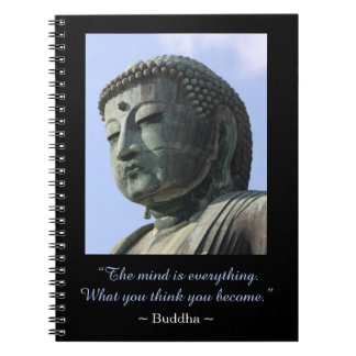 Inspirational Buddha Photo Quote Notebooks