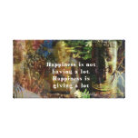 Inspirational BUDDHA quote about happiness ART Gallery Wrapped Canvas