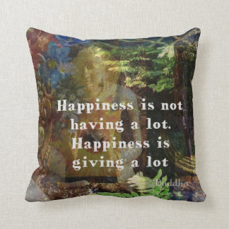 Inspirational BUDDHA quote about happiness Cushion