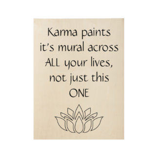 Inspirational buddhist quote artwork wood poster