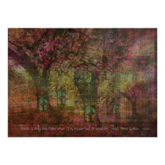 Inspirational Buddhist Quote with Dreamy TREE art Poster