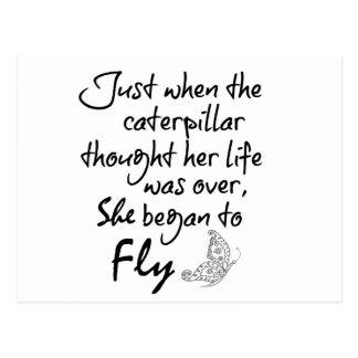 Inspirational Butterfly Quote Postcard