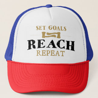 "Inspirational Cap "" Set Goals, Reach, Repeat"""