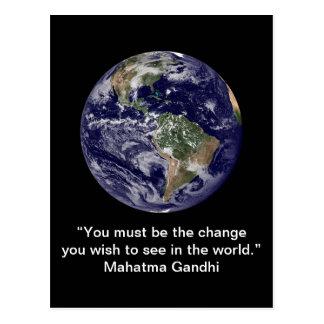 Inspirational card : Change 1 - Postcard