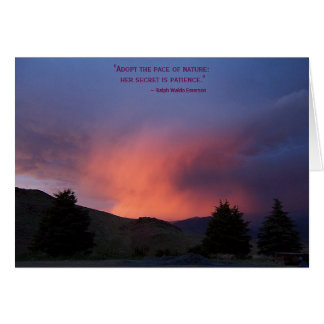 Inspirational Card: Nature is Patient Card