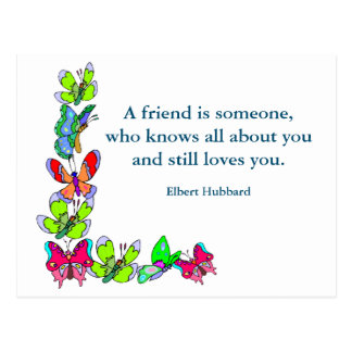 Inspirational card Quote Hubbard about Friendship