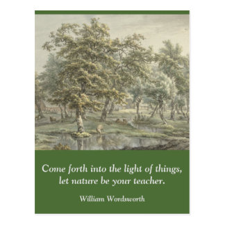 Inspirational card quote Wordsworth Nature