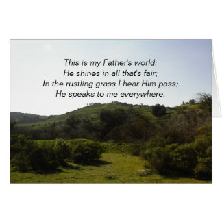 Inspirational Card: This is my Father's World Card