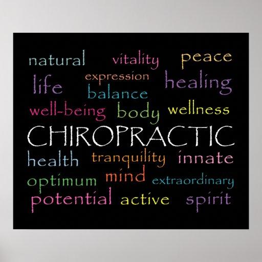 Inspirational Chiropractic Words Poster Zazzle Com Au