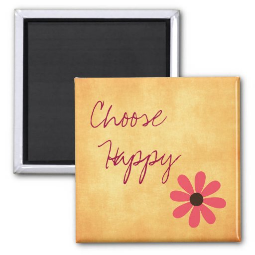 Inspirational Choose Happy Magnets