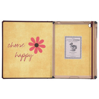 Inspirational Choose Happy Quote Affirmation iPad Covers