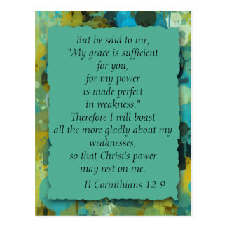 Inspirational Christian Bible God's Grace Postcard