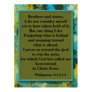 Inspirational Christian Bible Verse Postcard