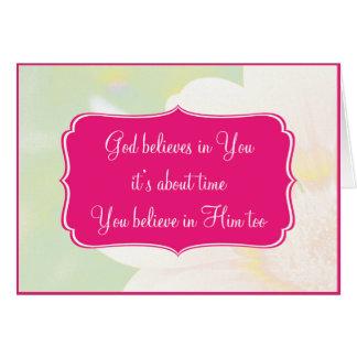 Inspirational Christian Card - Believe