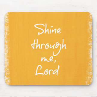 Inspirational Christian Quote Affirmation Prayer Mouse Pad