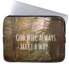 Inspirational Christian Quote: God Will Laptop Sleeve