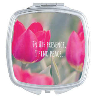 Inspirational Christian Quote God's Peace Travel Mirrors