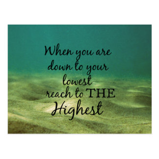 Inspirational Christian Quote: Reach to Highest Postcard