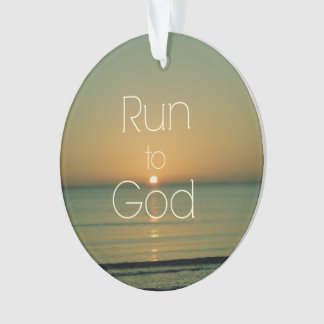 Inspirational Christian Quote Run to God