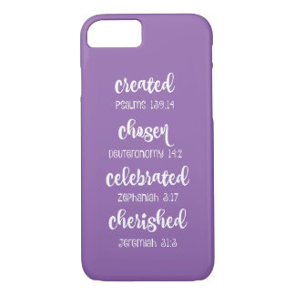Inspirational Christian Scripture Affirmations iPhone 8/7 Case