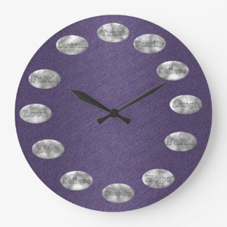 Inspirational Clock PURPLE