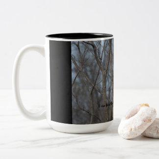 Inspirational Coffee Mug-Cardinal-Philippians 4:13 Two-Tone Coffee Mug