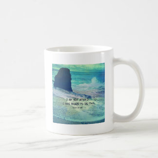 Inspirational courage quote JOAN OF ARC sea ocean Coffee Mug
