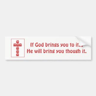 Inspirational Cross Of Hearts Bumper Sticker