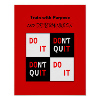 Inspirational do it motivational quote poster