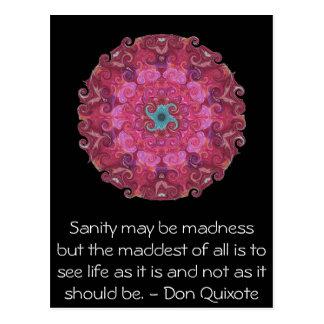 Inspirational Don Quixote quote Postcard