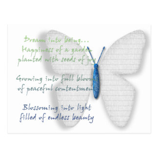 Inspirational Dream Poem Postcard