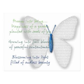 Inspirational Dream Poem Postcard