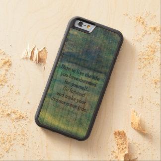 Inspirational DREAM quote Cherry iPhone 6 Bumper Case