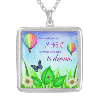 Inspirational Dream Quote Necklace