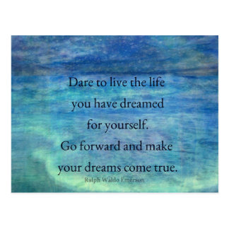 Inspirational DREAM quote Postcard