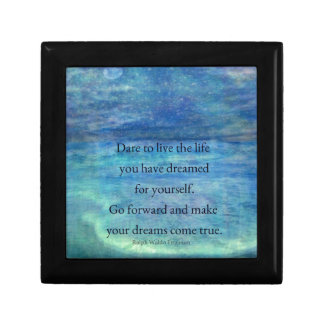 Inspirational DREAM quote Small Square Gift Box