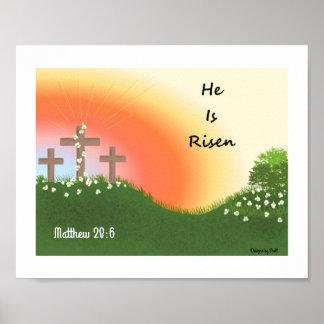 Inspirational Easter Sunrise Poster